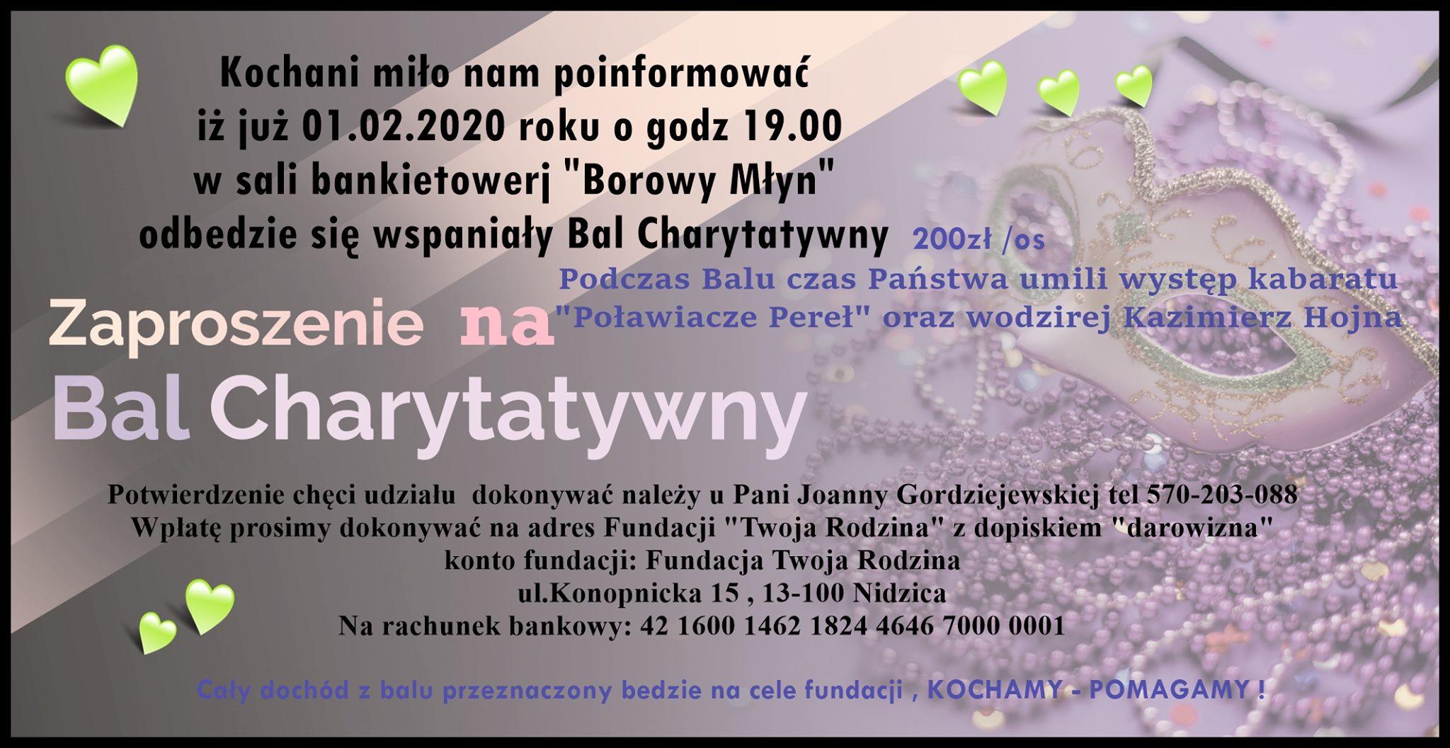 Bal Charytatywny :) Świetna zabawa i szczytny cel!